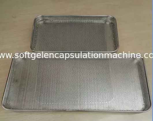 Food Grade SS Trays / Perforated punched metal mesh Stainless Steel Tray